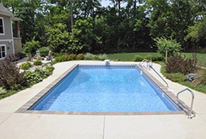 A Photo Of A Successful Pool Installation In Greenfield, IN - Dave's Pools